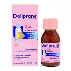 Doliprane 2.4% Fl/60Ml Sirop