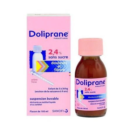 Doliprane 2.4%  Ss Fl/100Ml Sirop