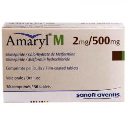 Amaryl-2Mg/500Mg Comprimé